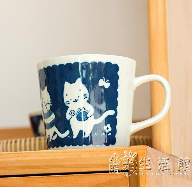 制釉下彩陶瓷馬克杯可愛貓咪水杯進口卡通家用杯子咖啡杯