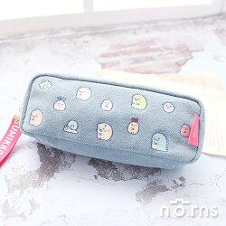 【日貨角落生物牛仔刺繡筆袋】Norns 日本SAN-X正版授權 Casual 單寧 丹寧化妝包 鉛筆盒 文具收納袋