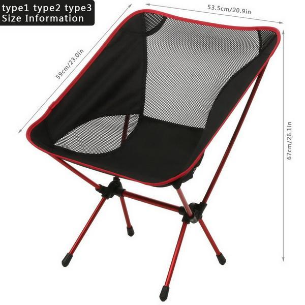 Camp Chair Ground Lightweight and Durable Construction Outdoors Garden 5