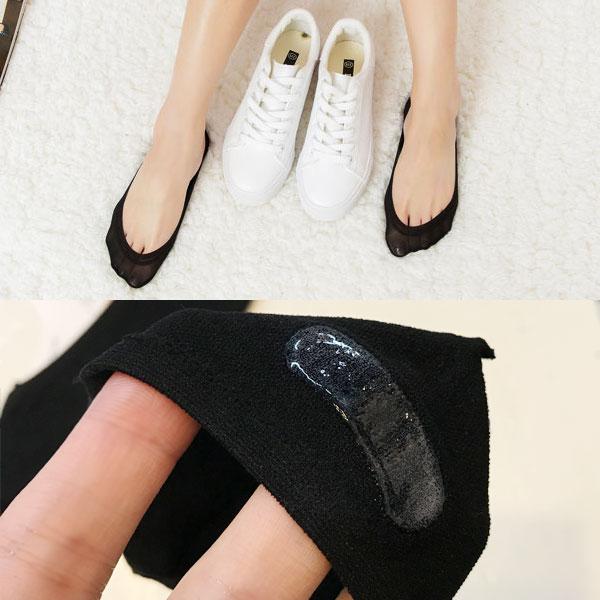 夏天專用 防滑矽膠隱形襪 船型襪 短襪 薄款透氣 彈性除臭耐穿 後腳跟止滑不脫落 球鞋 娃娃鞋 高跟鞋 韓國 ANNA S.