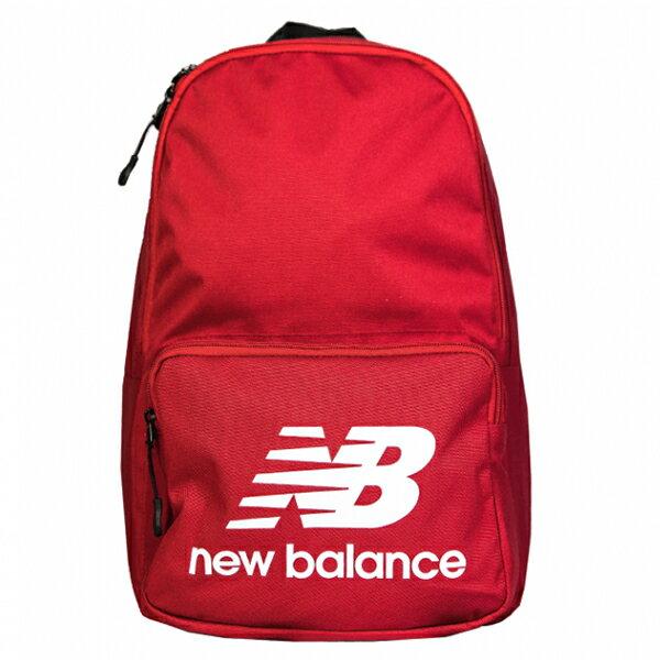 Shoestw【NTBCBPK8RD】NEW BALANCE NB 背包 休閒 運動 後背包 筆電包 紅色 白色大LOGO 0