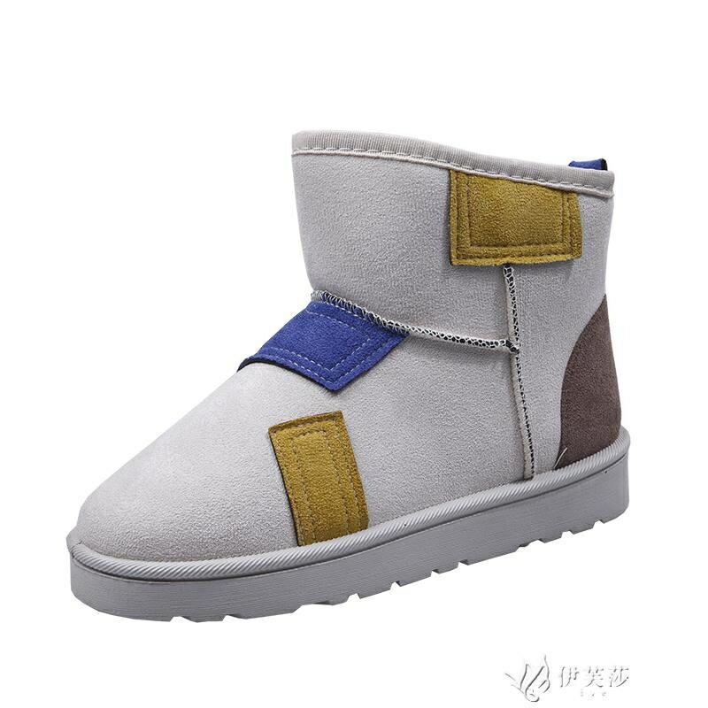 雪地靴女2020秋冬季新款英倫風百搭加絨棉鞋網紅保暖短靴子
