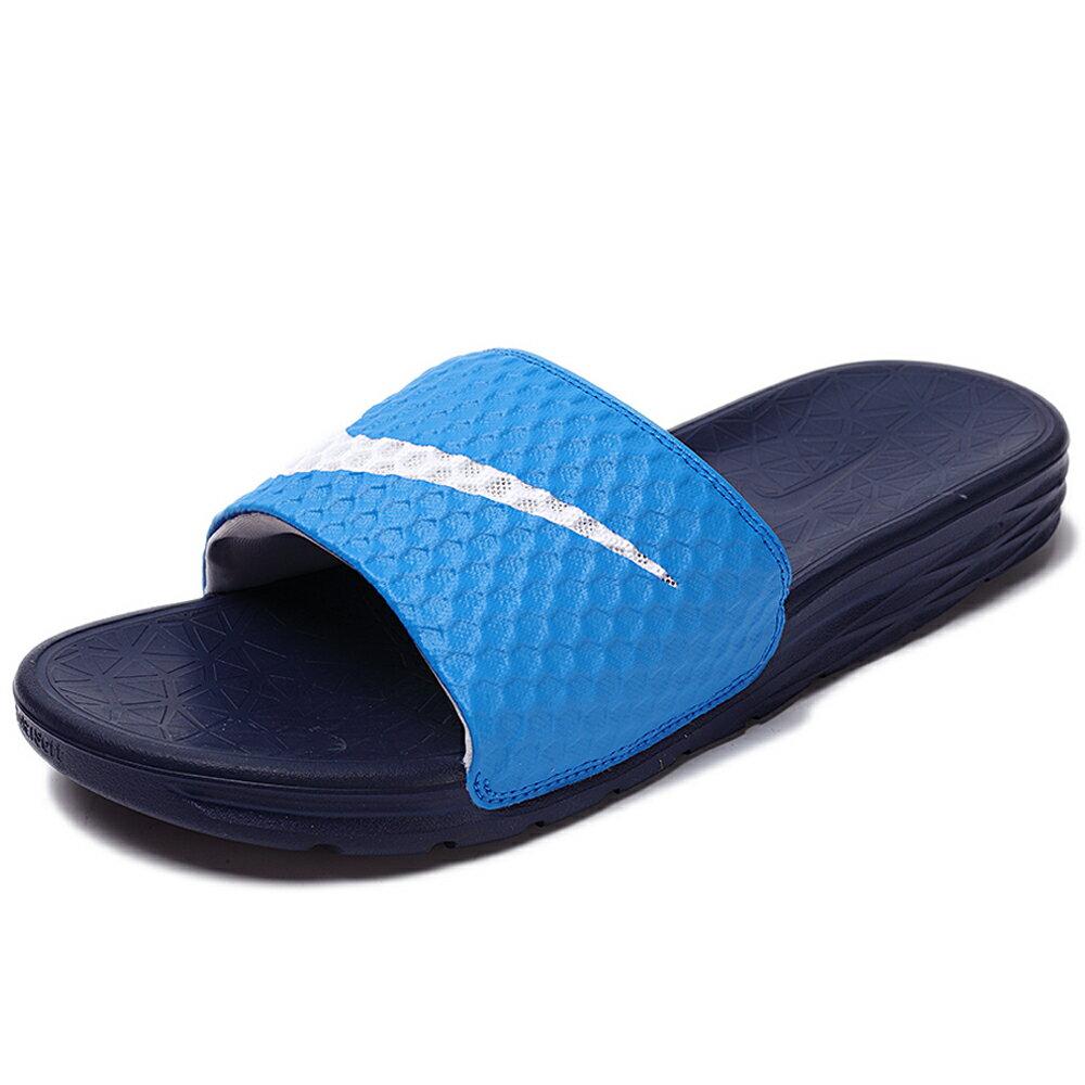 NIKE Benassi Solarsoft 拖鞋 男鞋 女鞋 軟底 舒適 藍 白勾 【運動世界】 705474-402