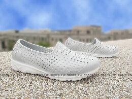 ShoestwPONY TROPIC 水鞋 童鞋 軟Q 防水 洞洞鞋 灰線條 親子鞋