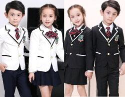天使嫁衣【童TQ1827】2色男女款學院風西服四件式套裝˙預購訂製款