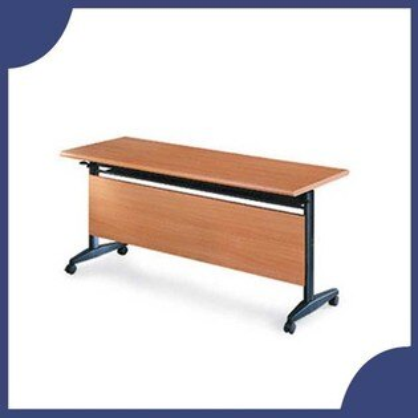 『商款熱銷款』【辦公家具】AT-1560H櫸木紋折合式會議桌書桌鐵桌摺疊臨時活動