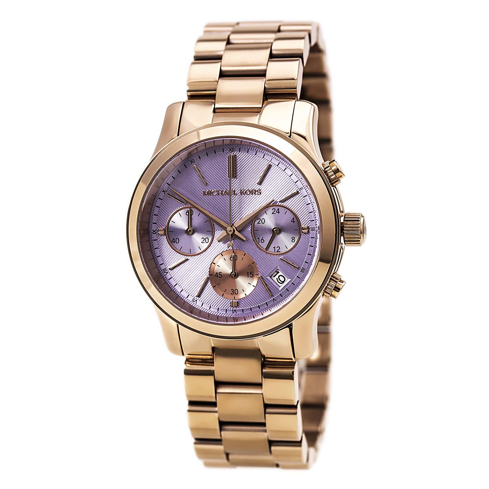 美國Outlet 正品代購 Michael Kors MK 三環 螢光紫精鋼 滿鑽 手錶 腕錶 MK6163 3