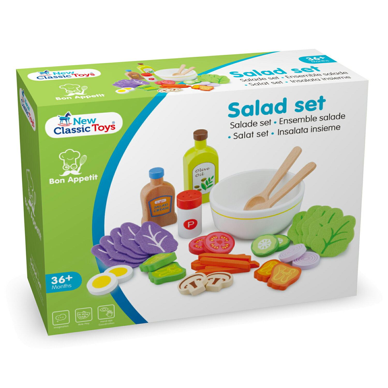 《荷蘭 New Classic Toys》木製廚具 -蔬食沙拉組合 東喬精品百貨