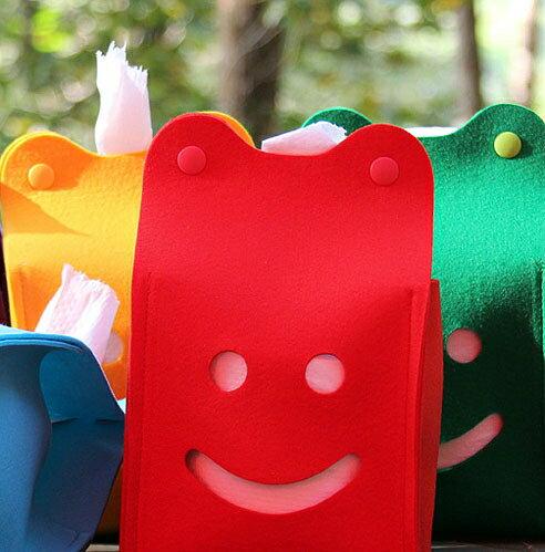 ├登山樂┤Ridge Line 彩色微笑面紙盒 - 紅色#OT867277RE