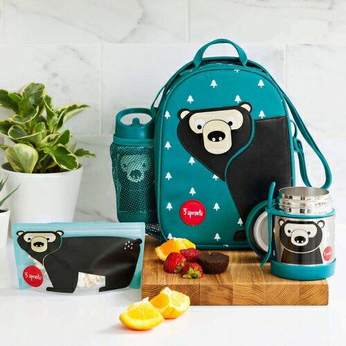 【淘氣寶寶】加拿大 3 Sprouts 午餐便當袋-黑熊【具保冷效果,每一口都最新鮮】【保證公司貨】 1