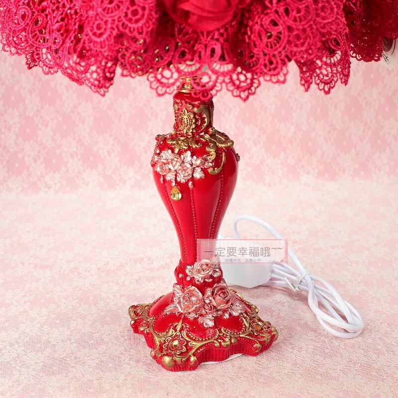 一定要幸福哦~~熊熊蕾絲檯燈(紅)、舅仔燈、新娘嫁妝、結婚用品、安床用品 1