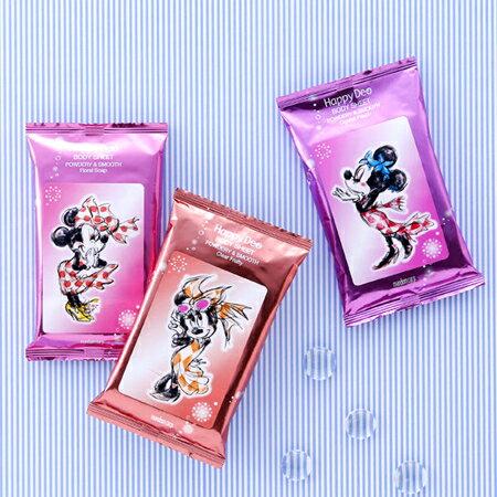 日本 Mandom 米妮香氛濕紙巾(12枚入) 乾爽潔膚 隨身包 隨手包 迪士尼【N201592】