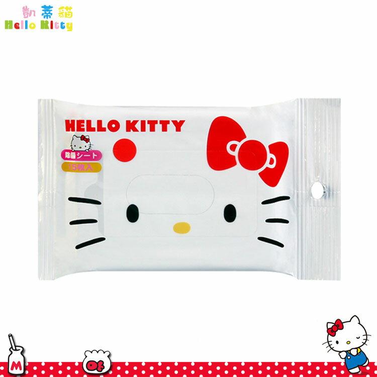 大田倉 日本進口正版 日本製 三麗鷗 Hello Kitty 凱蒂貓 除菌抗菌 濕紙巾 濕巾 15枚入 172014