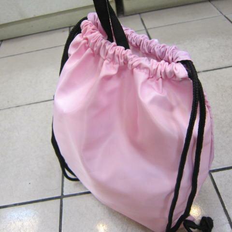 ~雪黛屋~冰雪奇緣 束口後背包大容量可放A4資料夾防水尼龍布材質隨身包Disney正版限量授權品 FN3C05 粉紅