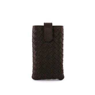 【BOTTEGA VENETA】小羊皮編織 手機套 Iphone套(深咖啡色) 258331 V001N 2040