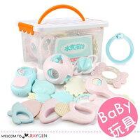 嬰幼兒可水煮益智多造型牙膠搖鈴 玩具 11件/組-mombaby-媽咪親子推薦