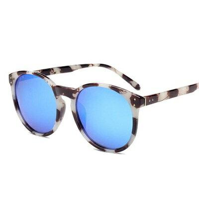 ~太陽眼鏡偏光墨鏡~黑框金屬連接鉚釘男女眼鏡 3色73en69~ ~~米蘭 ~