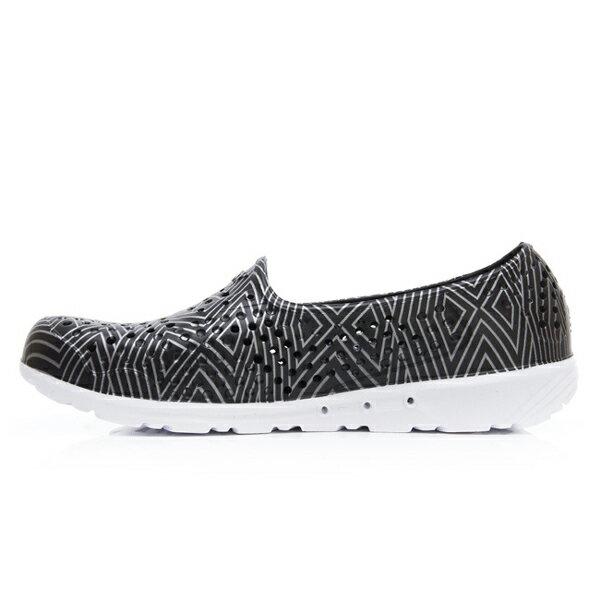 《2019新款》Shoestw【92U1SA06BK】PONY TROPIC 水鞋 軟Q 防水 懶人鞋 洞洞鞋 黑色銀線 男女尺寸都有 2