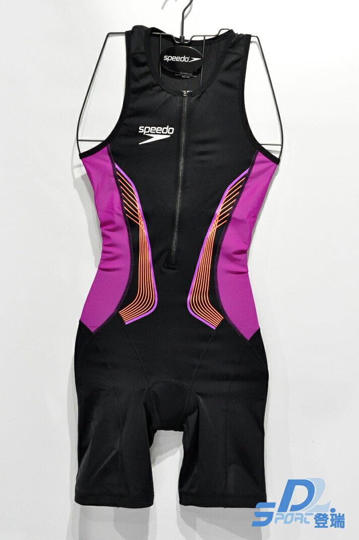 【登瑞體育】SPEEDO 女款無袖連身三鐵衣 SD811428C148