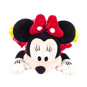 免運【禾宜精品】迪士尼 米妮 多功能玩偶毯 玩偶 毛毯 枕頭 Zoobies Disney Minnie YZB110 結帳現折100