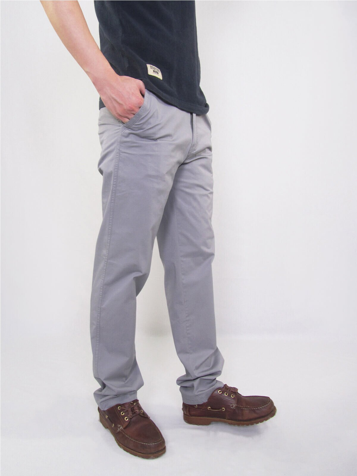 加大尺碼精梳棉平面休閒長褲 大尺寸顯瘦彈性長褲 時尚卡其長褲 PANTS (327-8106-01)銀灰色、(327-8106-02)卡其色 L XL 2L 3L 4L 5L (腰圍30~40英吋) [實體店面保障] sun-e 8