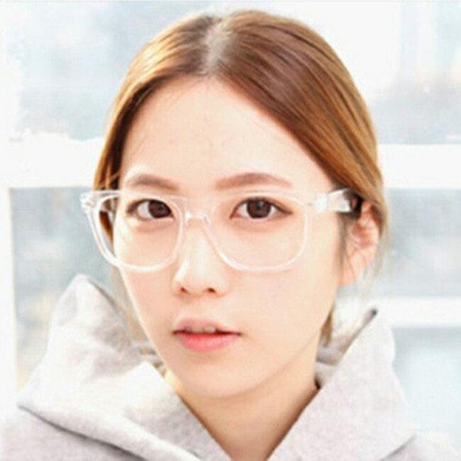 50%OFF【J020078GLS】經典復古全透明白色平光鏡2140街拍必備眼鏡架框架眼鏡平光鏡