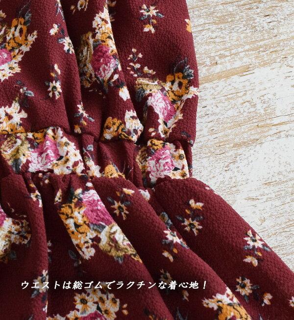 日本e-zakka / 花紋長版連衣裙 / 32603-1800946 / 日本必買 代購 / 日本樂天直送(5500) 6