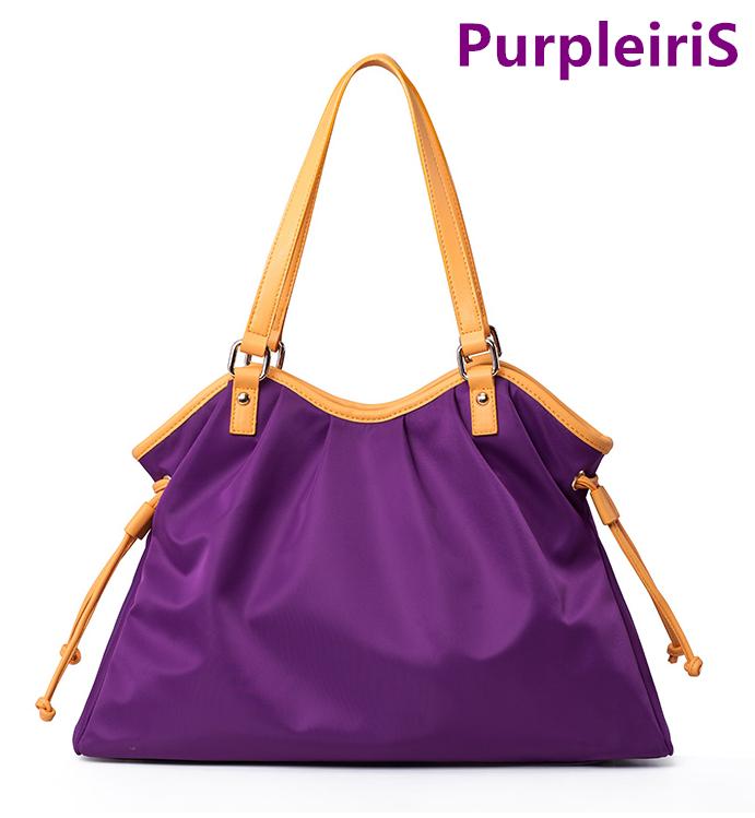 ~鳶尾紫~紫色包包 紫色女包 輕便 後背包  款女包 尼龍女包 女士手提包單肩包斜跨包牛津