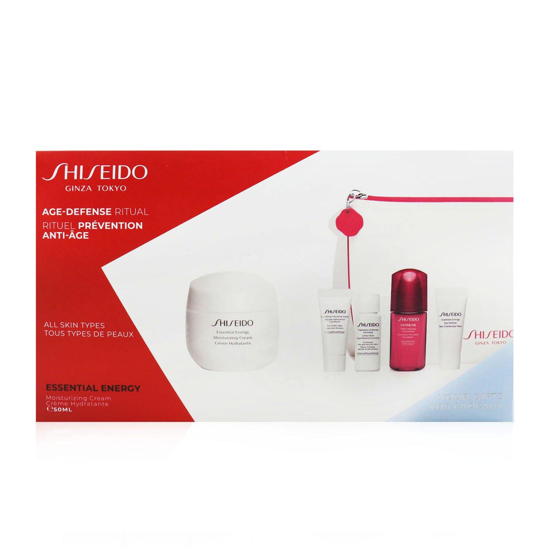 資生堂 Shiseido - 抗衰老能量套裝(適用於所有皮膚類型):保濕霜50ml +潔面泡沫5ml +濃縮柔順精華7ml + Ultimune濃縮精華10ml +眼霜5ml