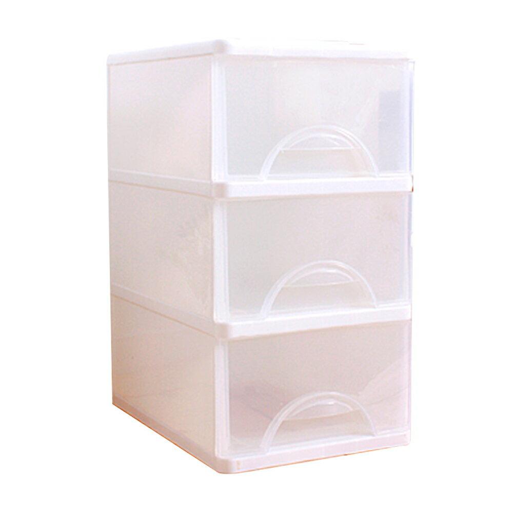 E&J【652042】Mr.box中純白三層收納櫃50L 收納箱/整理箱/收納袋/衣櫃