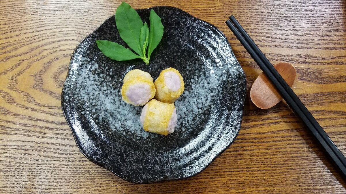 紫芋卷-【利津食品行】火鍋料 關東煮 芋頭 魚丸 包餡 冷凍食品