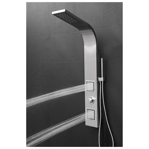 "AKDY 39"" Easy Connect Stainless Steel Shower Panel AK-JX-9000 1"