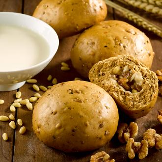 【松子堅果起司饅頭】1包5入(每顆約148克 + / -5克。) ▶玉食堂手工養生包子饅頭