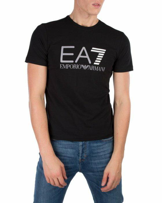 美國百分百【Emporio Armani】EA7 短袖 T恤 logo T-shirt 黑色 大尺碼 XXL號 I743