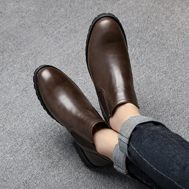 切爾西靴男短靴英倫高幫男馬丁靴秋冬季皮鞋加絨皮靴時尚潮流男靴 限時鉅惠85折
