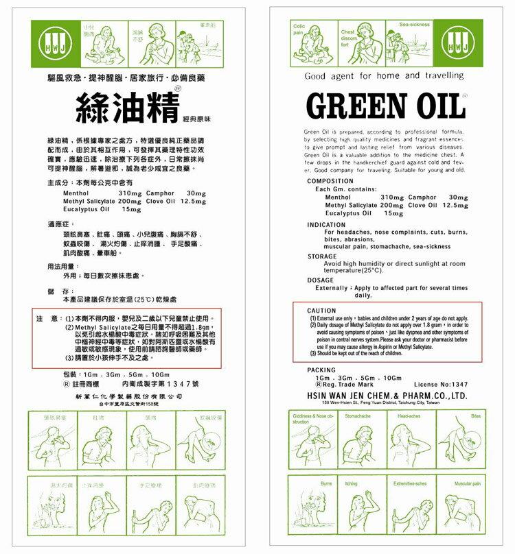 專品藥局 綠油精 GREEN OIL-3gmx12罐【2011569】 3