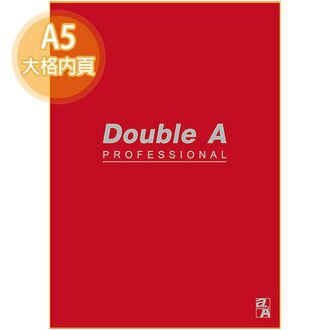 【Double A】A5/25K 膠裝筆記本 DANB15065 辦公室系列 (酒紅/大格/50頁)