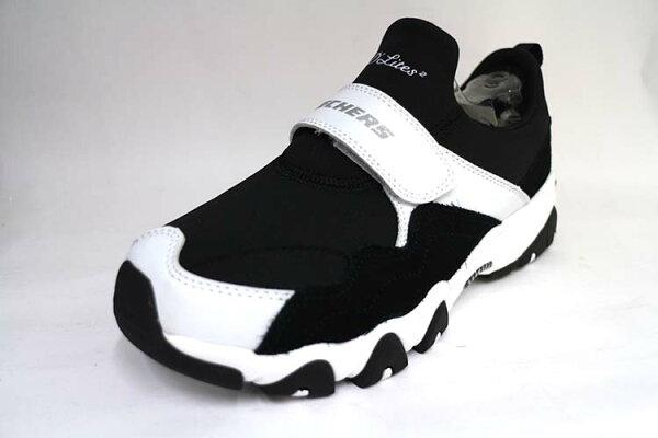 SKECHERS(女)運動系列DLITES2時尚穿搭款記憶型鞋墊休閒運動鞋-88888107BLK黑白【陽光樂活】