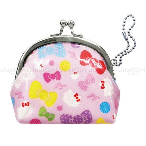 HELLO KITTY 零錢包 收納包 錢包 防水 雙珠扣式金口夾 配件 正版日本進口限定販售 * JustGirl *