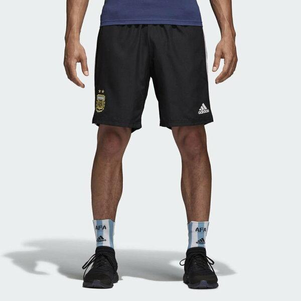 ADIDASARGENTINA男裝短褲休閒透氣阿根廷世足賽世界盃黑白【運動世界】CF2628