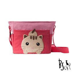 【ABS貝斯貓】可愛貓咪拼布 肩背包 斜揹包(粉色88-206) 【威奇包仔通】
