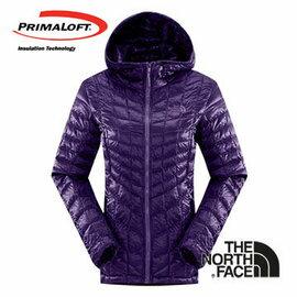 The North Face 女 PrimaLoft ? ThermoBall 保暖兜帽外套 石榴紫 CUD4