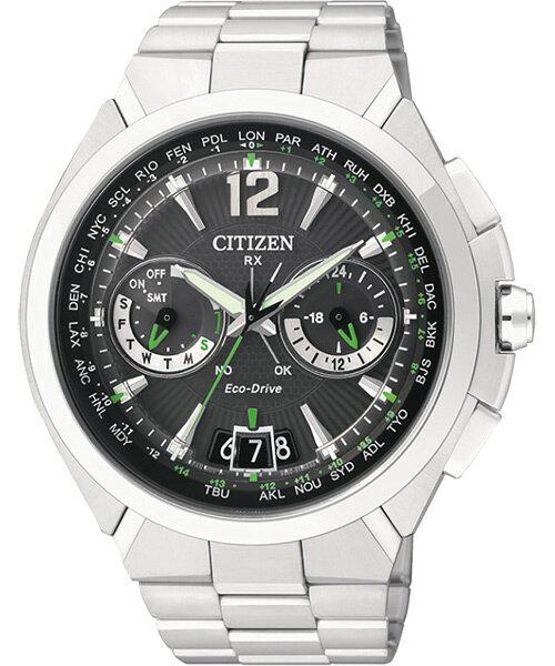 CITIZEN星辰CC1091-50F旗艦衛星對時光動能腕錶/黑面46mm