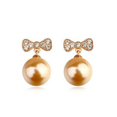 玫瑰金耳環925純銀珍珠耳飾~高貴古典華麗優美生日情人節 女飾品3款73gs10~ ~~米