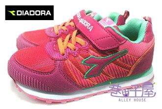 【巷子屋】義大利國寶鞋-DIADORA迪亞多納 女童經典輕量寬楦復古運動跑鞋 [2312] 粉 超值價$498