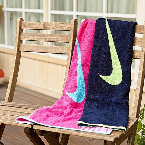 NIKE運動浴巾 (中尺寸) 加贈運動水壺 100%純棉 耐吉 運動毛巾 打球 健身 瑜珈 游泳UCHINO 授權製造