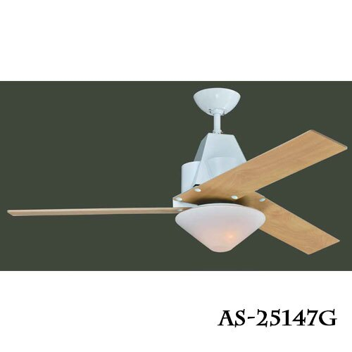 領航者 ASAIILER 工業風系列/設計款 52吋 LED 18W 吊扇燈 風扇燈 尊爵黑/杏仁白 〖永光照明〗AS-25147G/AS-25148G