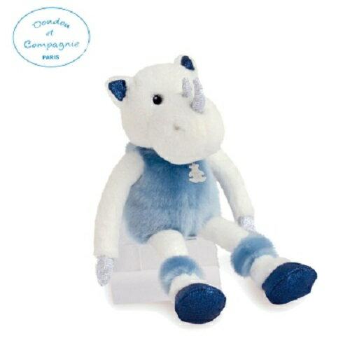 Doudou 藍耳犀牛布偶35cm