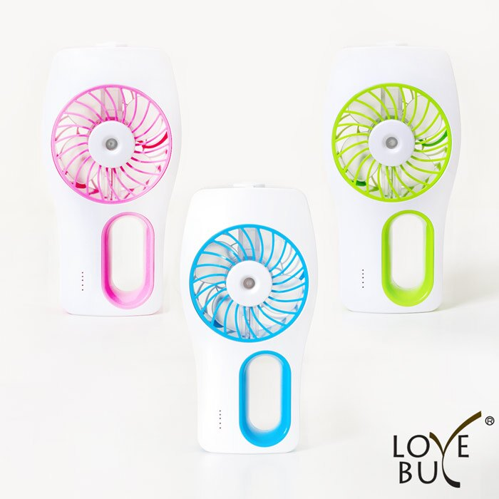 【Love Buy】噴霧涼感直立式USB風扇(3色任選)