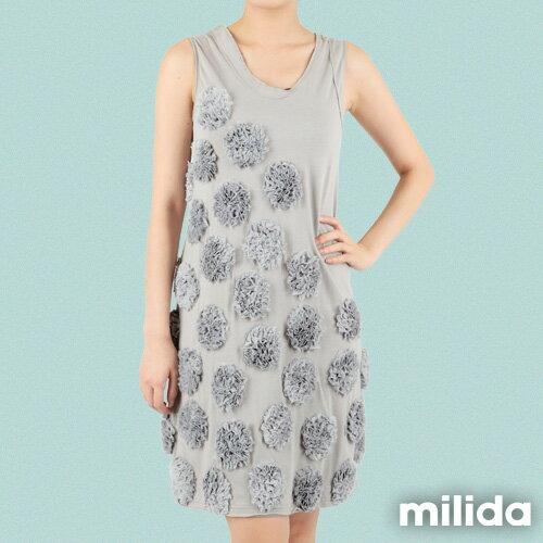 【Milida,全店七折免運】-早春商品-無袖款-獨家設計洋裝 1
